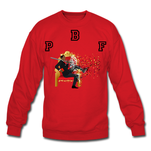 PBF Shattered Crewneck Sweatshirt - red