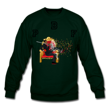 Load image into Gallery viewer, PBF Shattered Crewneck Sweatshirt - forest green