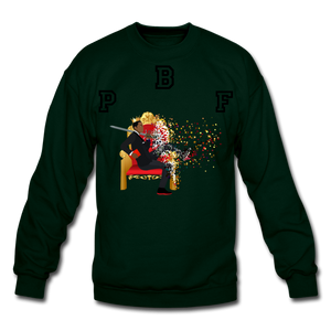 PBF Shattered Crewneck Sweatshirt - forest green