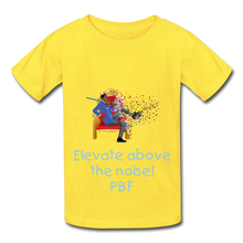 Load image into Gallery viewer, PBF Youth Tagless T-Shirt - yellow