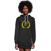 Load image into Gallery viewer, PBF Women's Hoodie Dress - heather black