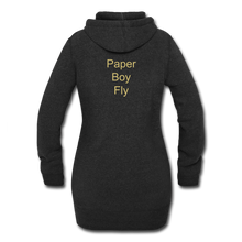 Load image into Gallery viewer, PaperboyFly Dots Women's Hoodie Dress - heather black