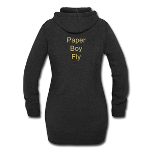 PaperboyFly Dots Women's Hoodie Dress - heather black