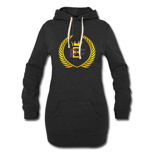 PBF Women's Hoodie Dress - heather black
