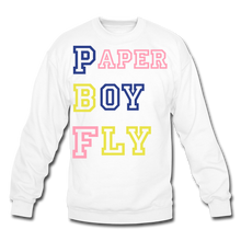 Load image into Gallery viewer, PBF MultiColor Crewneck Sweatshirt - white