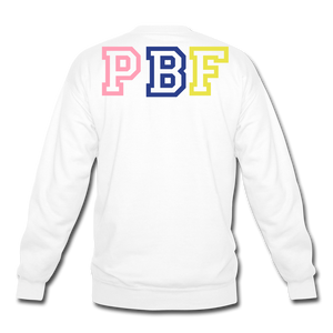 PBF MultiColor Crewneck Sweatshirt - white