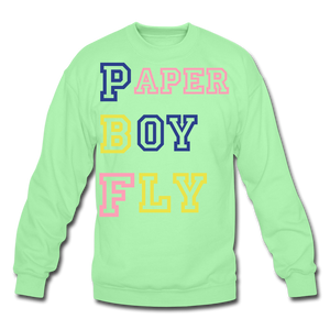 PBF MultiColor Crewneck Sweatshirt - lime