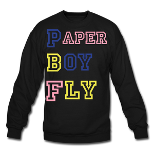 PBF MultiColor Crewneck Sweatshirt - black