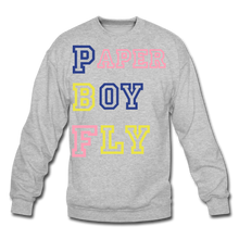 Load image into Gallery viewer, PBF MultiColor Crewneck Sweatshirt - heather gray
