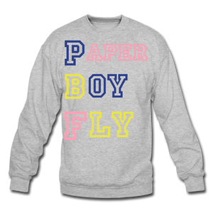 PBF MultiColor Crewneck Sweatshirt - heather gray