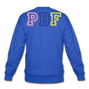 PBF MultiColor Crewneck Sweatshirt - royal blue