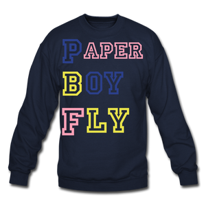 PBF MultiColor Crewneck Sweatshirt - navy