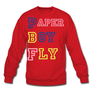 PBF MultiColor Crewneck Sweatshirt - red