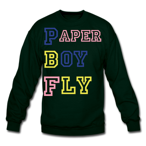PBF MultiColor Crewneck Sweatshirt - forest green