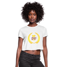 Load image into Gallery viewer, PBF Women's Cropped T-Shirt - white