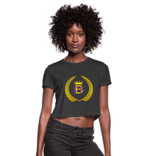 Load image into Gallery viewer, PBF Women's Cropped T-Shirt - deep heather