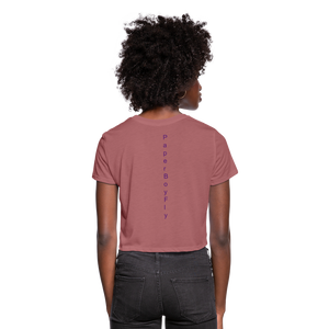PBF Women's Cropped T-Shirt - mauve