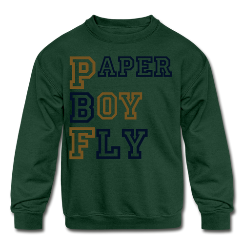PBF Kids' Crewneck Sweatshirt - forest green