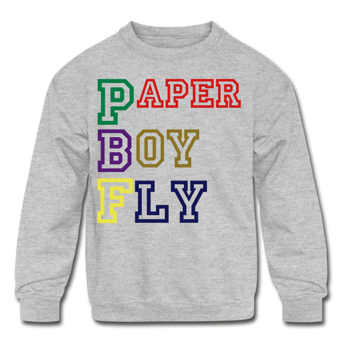 PBF Kids' Crewneck Sweatshirt - heather gray