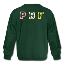 Load image into Gallery viewer, PBF Kids' Crewneck Sweatshirt - forest green