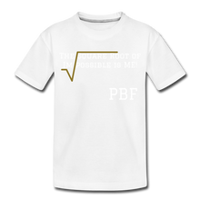 Load image into Gallery viewer, PBF Square Root Toddler Premium T-Shirt - white