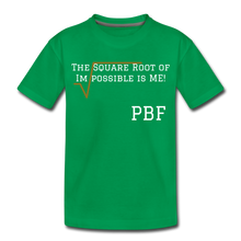 Load image into Gallery viewer, PBF Square Root Toddler Premium T-Shirt - kelly green