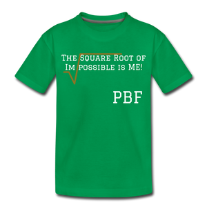 PBF Square Root Toddler Premium T-Shirt - kelly green