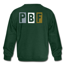 Load image into Gallery viewer, PBF Multicolor Kids Sweatshirt - forest green