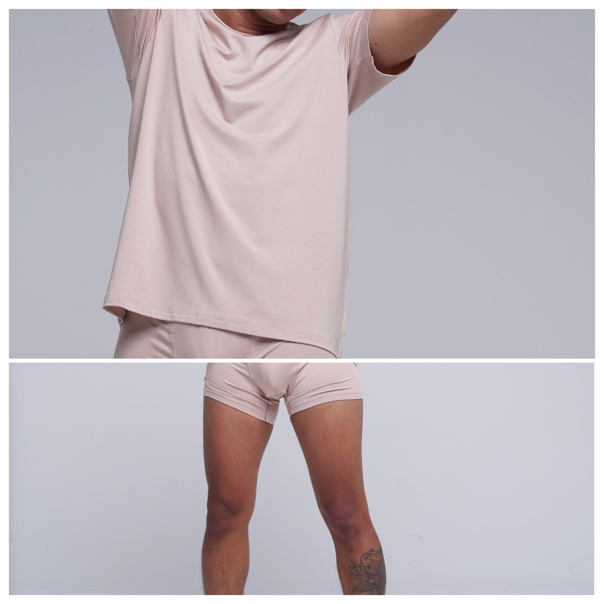 Bundle Underwear & Crew Neck Beige