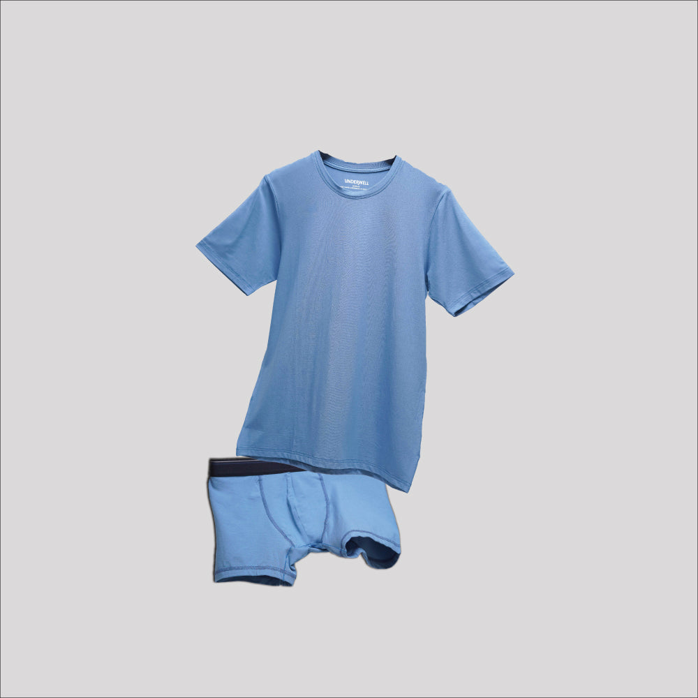 Bundle Underwear & Crew Neck Sky Blue