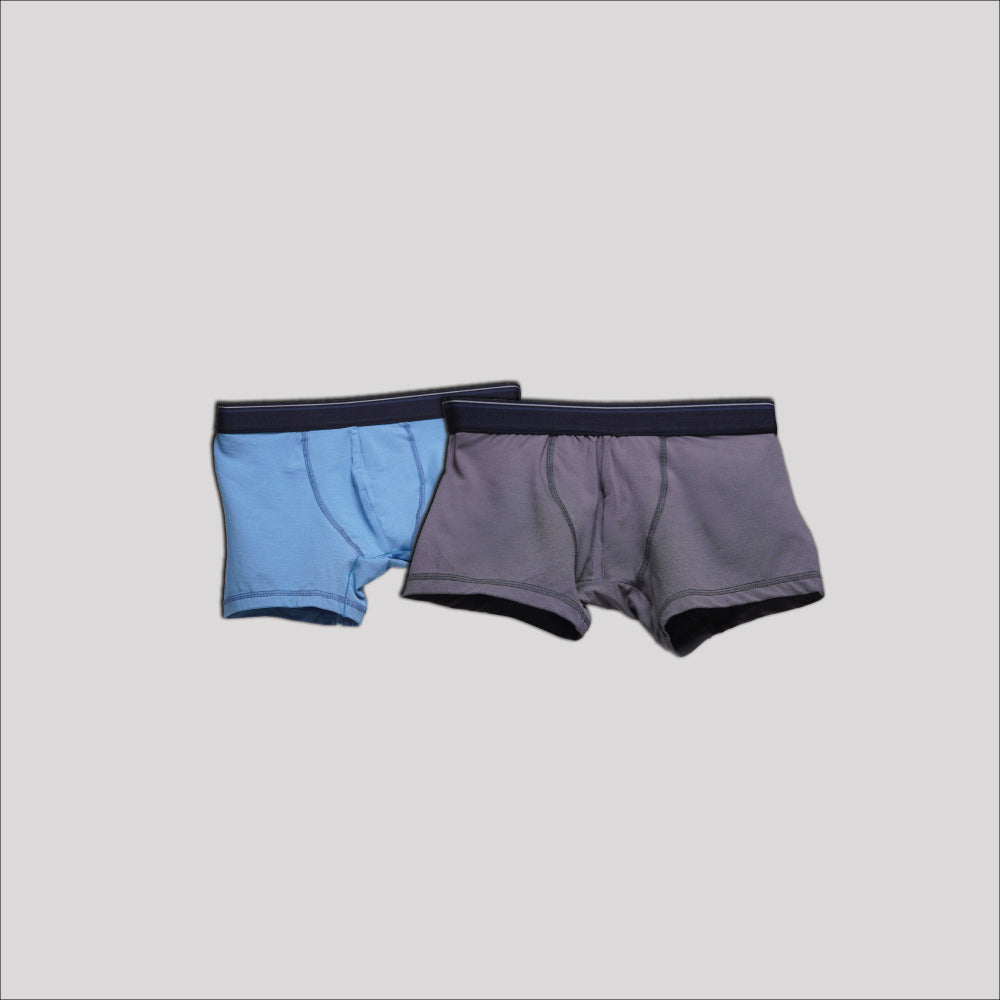 Bundle Underwear Dark Grey on Sky Blue