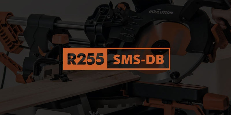 NEW 255mm Double Bevel Mitre Saw | Evolution Power Tools Ltd.