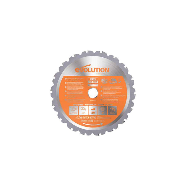185mm Multi-Material Cutting 20T Blade (Circular Saws & RAGE4 Only)