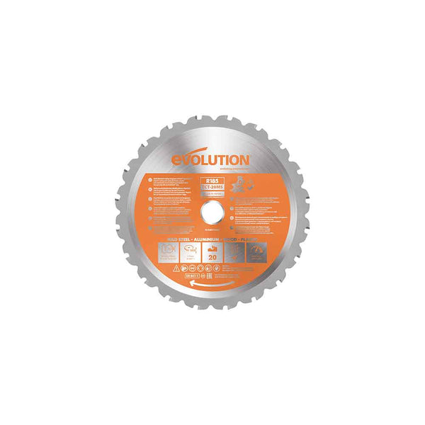 185mm Multi-Material Cutting 20T Blade (Mitre Saws Only)