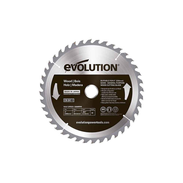 230mm Wood Cutting 40T Blade