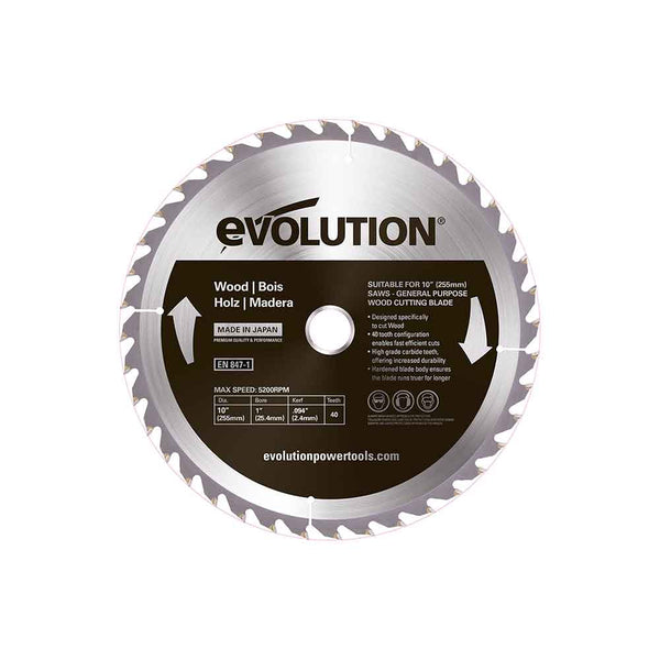 255mm Wood Cutting 40T Blade