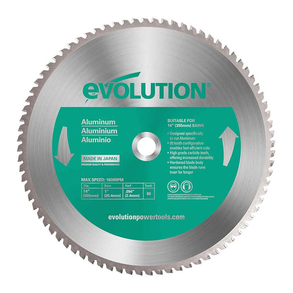 355mm Aluminium Cutting 80T Blade