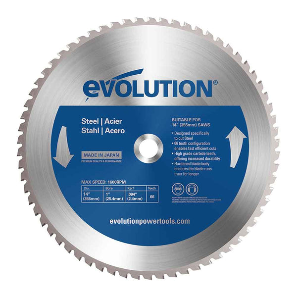 355mm Mild Steel Cutting 66T Blade