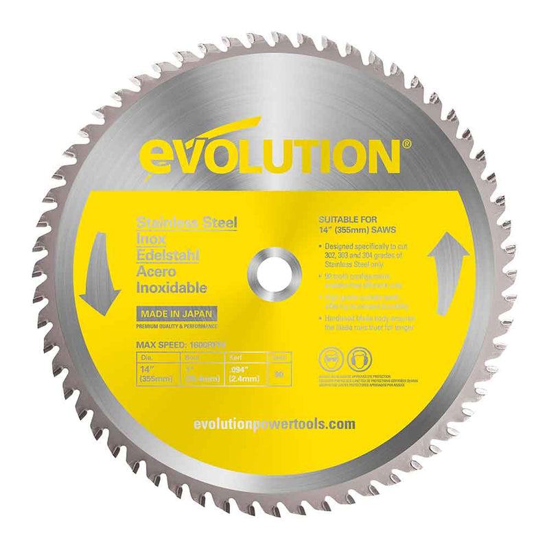355mm Stainless Steel Cutting 90T Blade