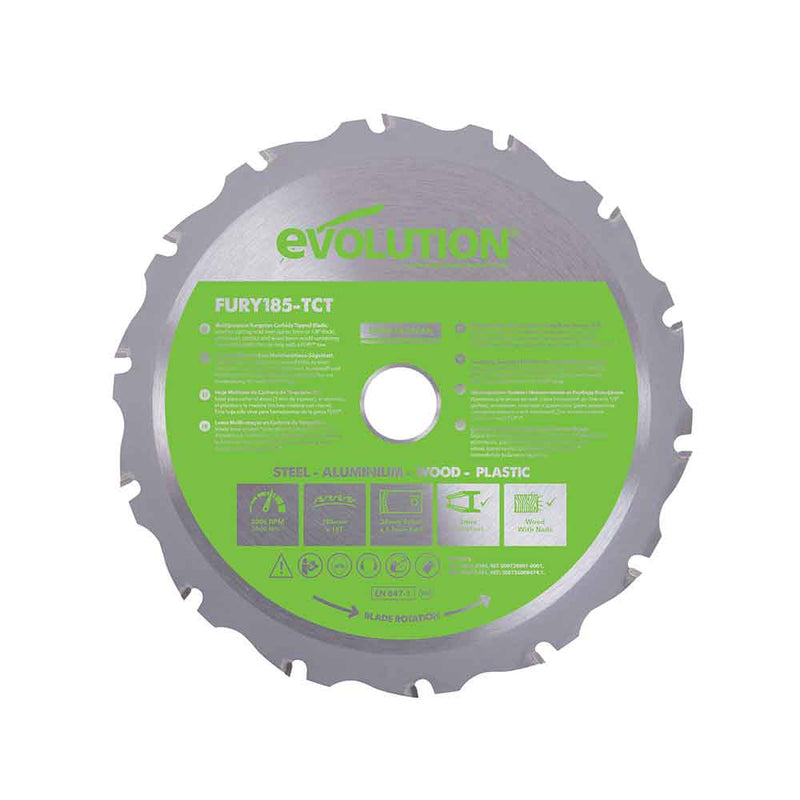 185mm Multi-Material Cutting 16T Blade