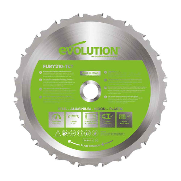210mm Multi-Material Cutting 20T Blade
