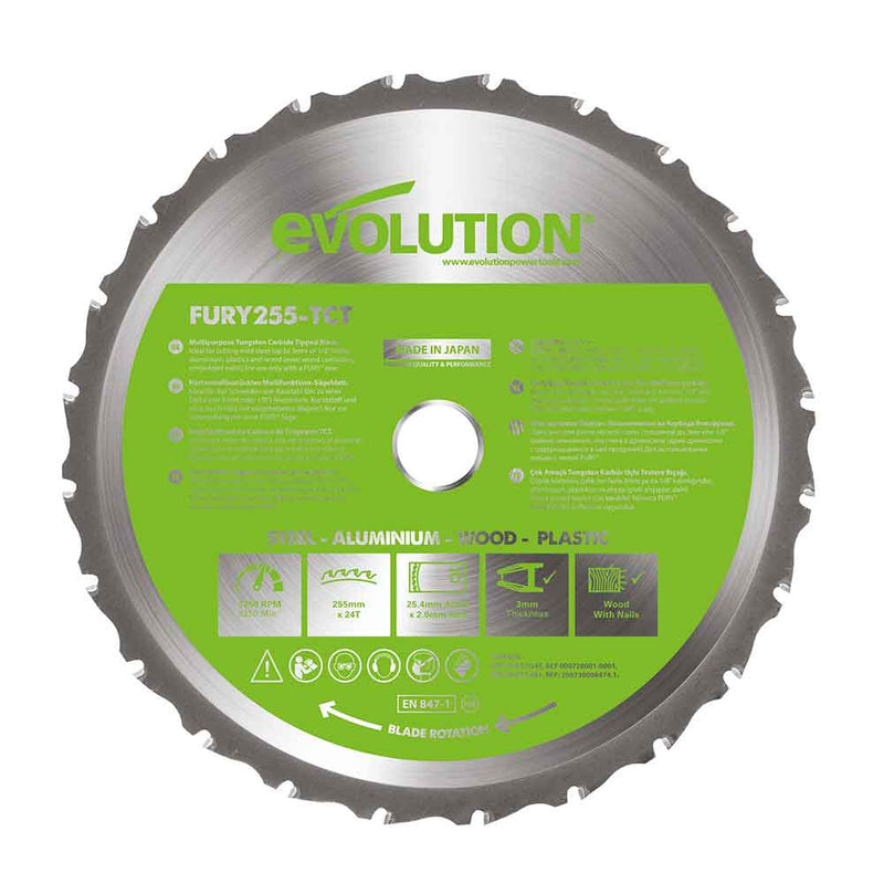 255mm Multi-Material Cutting 24T Blade