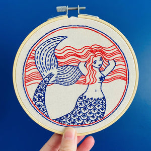 Mermaid Hair Don't Care Complete Embroidery Kit