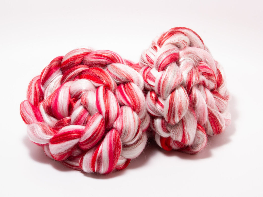 Merino Wool / Silk (4oz) | Combed Top / Roving for Spinning and Felting