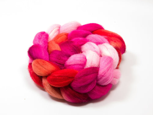 Polwarth/ Silk Roving (75/25) | (Combed Top) Hand painted Felting or Spinning Fiber