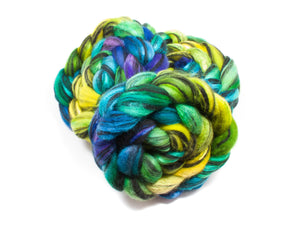 Blueface Lecester BFL Wool/ Silk (4oz) | Combed Top / Roving for Spinning and Felting