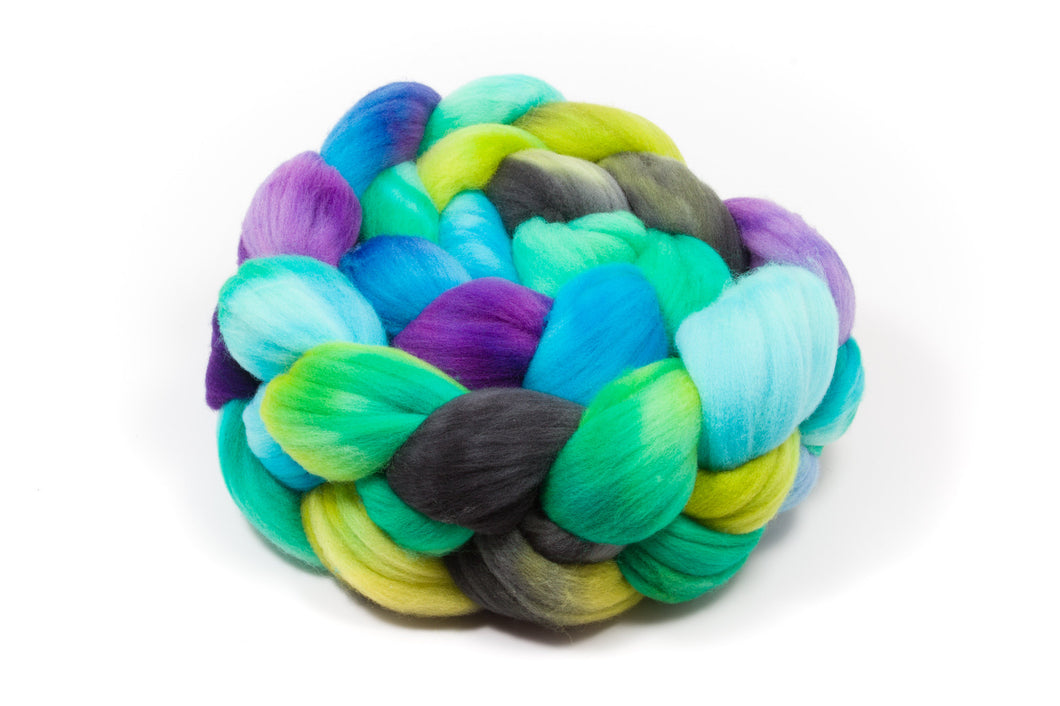 Rambouillet Wool Roving - Hand Dyed Roving (Combed Top) for Felting or Spinning