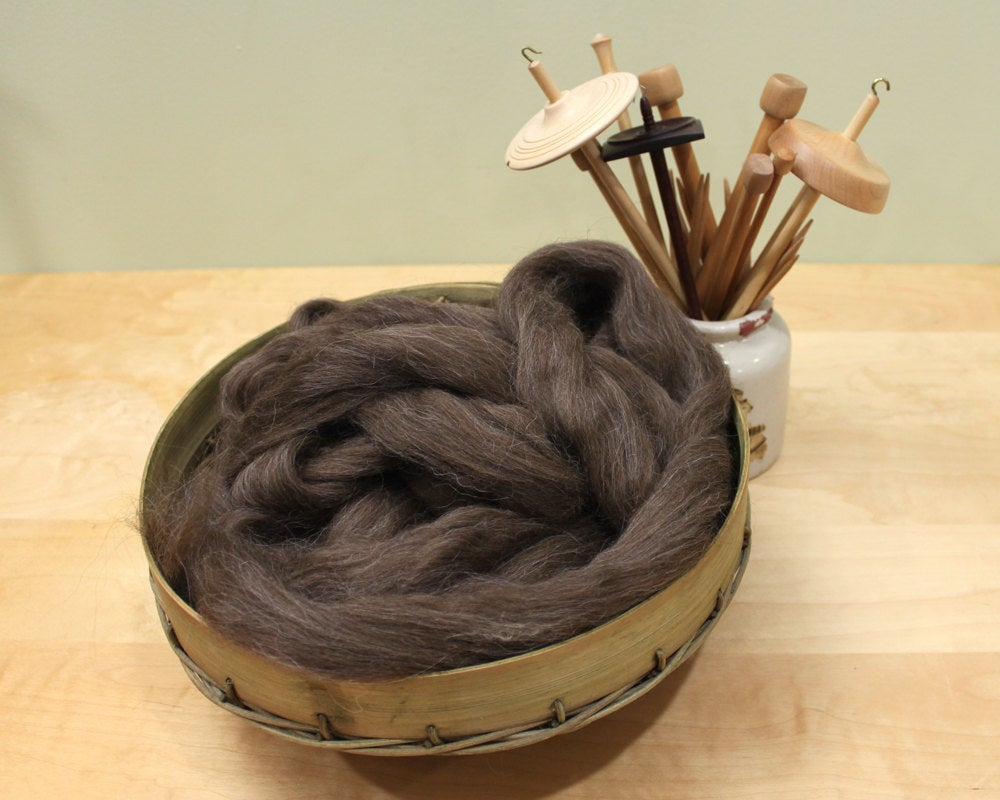 Icelandic Wool - Natural Brown  (8 oz)