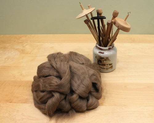 Baby Camel Roving - Undyed Spinning Fiber (4oz)