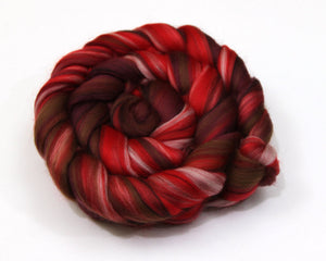 Merino Wool Roving (combed top) - Custom Blended Commercially Dyed Roving for Spinning or Felting - 4 oz